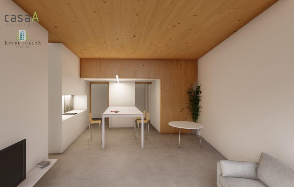 Pisos contruidos con materiales eficientes y sostenibles como la madera y los jardines verticales.